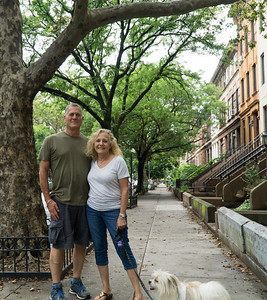 Sammy took this photo of us on Park Place. He cut a bit off the bottom but it's a great picture anyway.