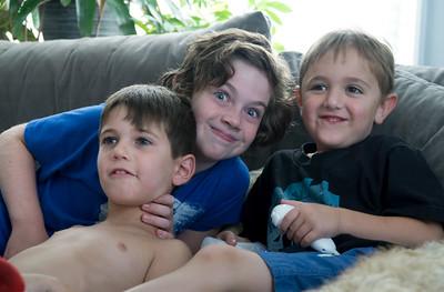 Cute kids. The boy cousins.