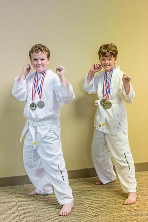 Ethan and Calebs Taekwon-Do Tournament 2014
