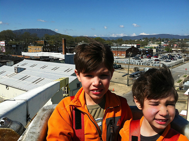 Ethan and Jacob in Bucket Truck - Chris Shot_pp