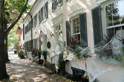 Old Town Alexandria. Its streets are lined with old homes. This one seemed to once house a fire fighting company