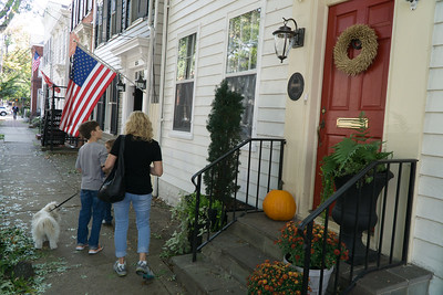 Exploring the lovely streets and homes of Old Town.  Alexandria,  Virginia.