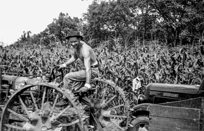 1946 Eugene on Farmall
