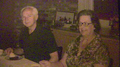 Bill & Almira at Lissis' - Fullerton, Calif. -- 4-28-76