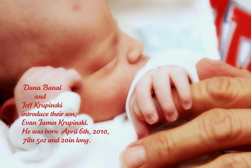 Evan James Krupinski, my nephew: Day 1