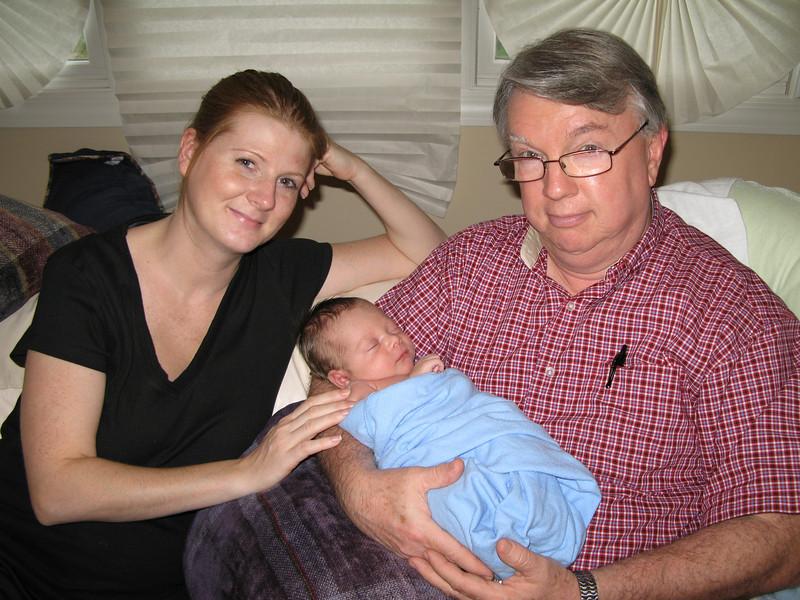 Jenni, Gramps & Evan 8/2007