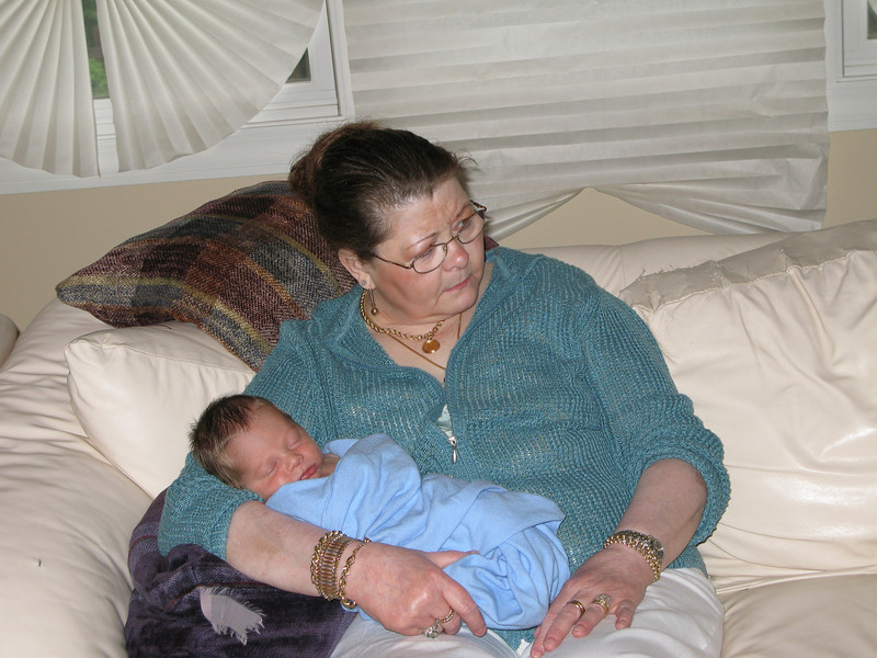 Baby Evan and Grandma Boppie