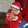 Santa Evan - smelling his toes!