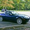 Car - a blue Miata, Gramp's & Boppie's car!