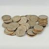 Dimes - 10 pennies equals a dime and 10 dimes equals a dollar