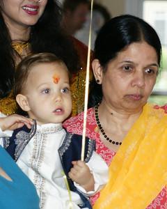 Dadi - Grandma Gayatri with Evan