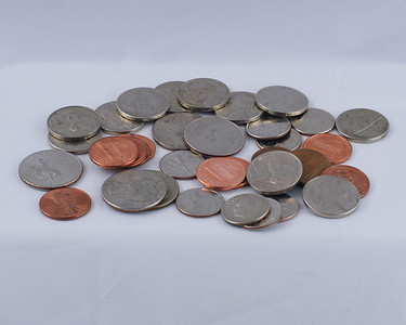 Coins - pennies, nickles, dimes and quarters (Ca'ching Ca'ching)