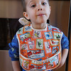 Evan wearing his Bib