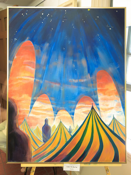 """Under the Big Top"" ~ acrylic painting"