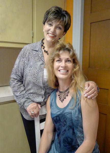 Meredith Piscitelli and Amanda, classmates at Silver Lake Regional High School ~ camera & files via kindness of Amanda
