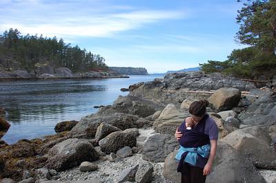 Hannah exploring the tidal zone