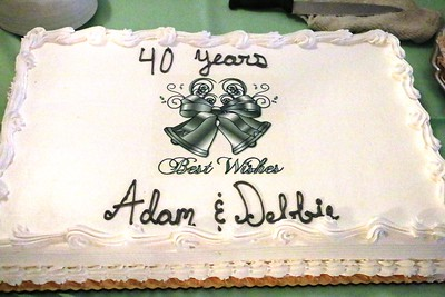 Adam and Debbie Banack 40th Anniversary, Aug 2, 2015