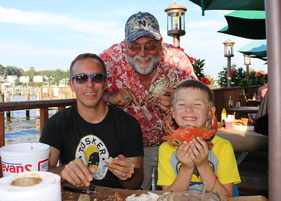 Brayden, Avery Birthday weekend,(4&7) Annapolis MD, Roy's 60th B Day dinner at Mikes Crab House, Kids Race, Family party Aug 19-21,2016