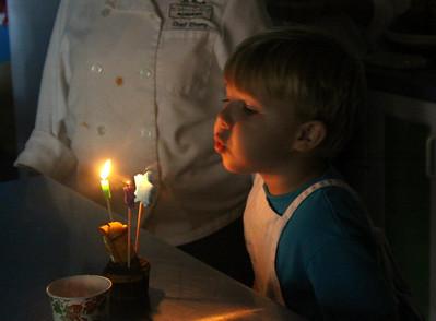 Brayden's 4th Birthday in Va.Beach, Aug 24, 2013, at Little Chef's Academy