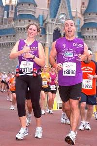 Derek & Niki, Disney Marathon for Leukemia Society, Florida, 1/13/08
