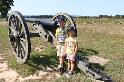 Gettysburg Battlefield Park with Derek,Niki and the critters, Sept 4, 2016