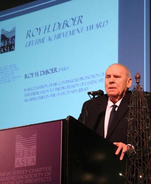 Grandpa DeBoer's Lifetime Achievement Award from ASLA, Jan 27, 2014