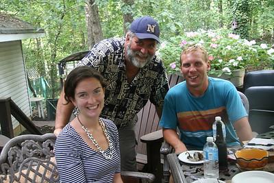 Labor Day picnic at home with Brant , Morgan , Mom Bruhn, Doris & Joan, Sept 2014