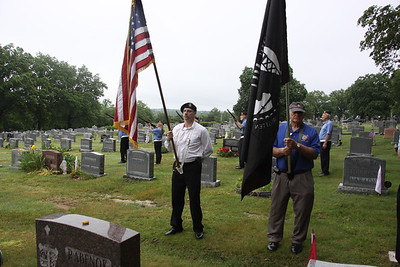 Memorial Day ceremony for Grandpa Bruhn at his grave by other verterans, May 30 2016
