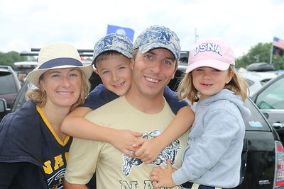 Navy Tailgate Home Opener Sept 3, 2016 vs Fordham with the kids, won 52-15, beautiful day!