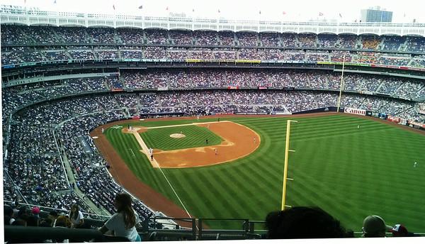 New Yankee Stadium with Brant and Morgan, Aug. 7, 2014 and Heidelberg German Restaurant ... NYC beer garden