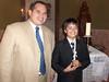 Diego y su catequista Miguel Angel Gutierrez