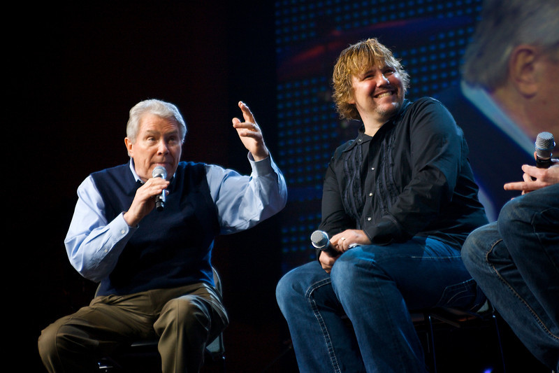 Photos I shot of Luis & Kevin Palau at the Catalyst West conference at Mariners' Church in Southern California.  © 2009 Luis Palau Association