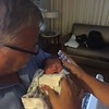 Grandpa Stewart meeting his new grand daughter Everly ( 2016 )