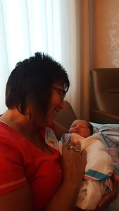 Grandma Lori so in love with her new grand daughter, Everly ( 2016 )