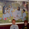 Conner and Ben wanted to see the paintings that Sophie and Hayden had told them about.