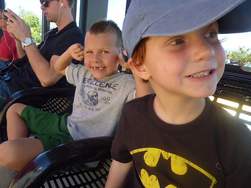 Conner plugs his ears at the sound of the Frontrunner's engines as he, Ben, and I wait for our train.