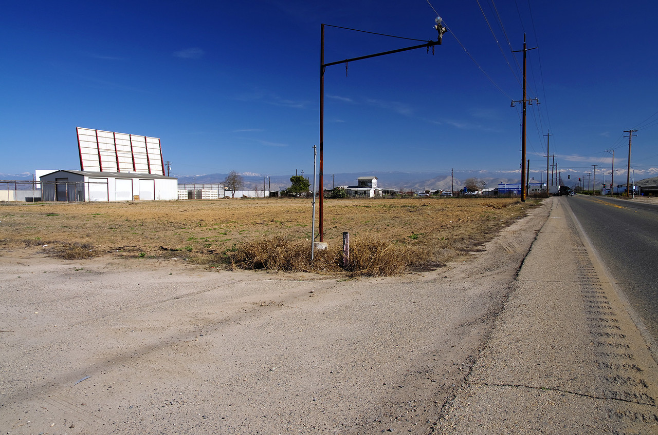 Looking NE on Manning Ave at the Old Midway Drive-In movie theater on Alta Ave