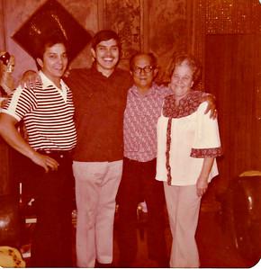 Don, Sam, Dad and Mom - December 1979.