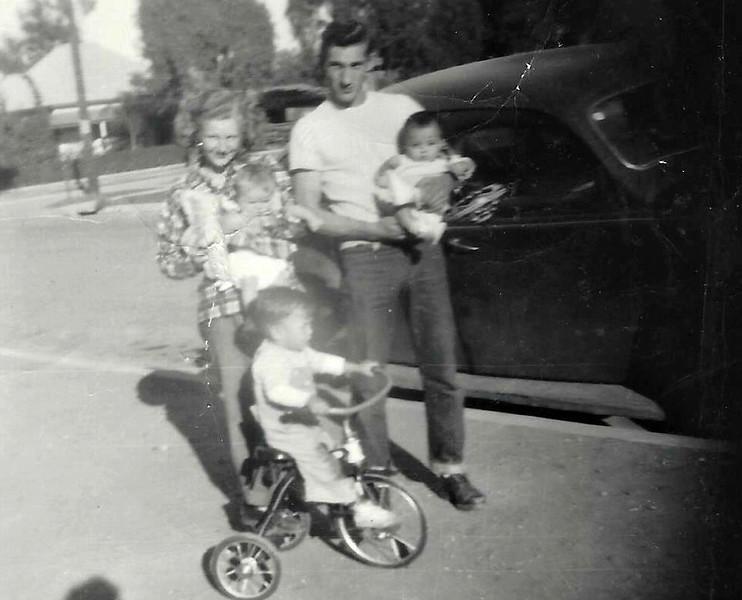 Hatti, Carl,  and Connie, Don and Sam