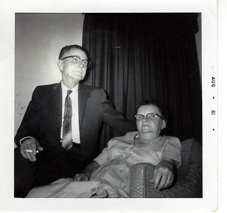 Old Pop's Brother and Sister-in-Law - Uncle Clyde and Aunt Rosie (back then you could smoke inside)