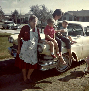 Old Granny, Annette and the boys (circa 1964).