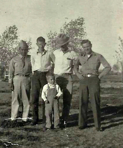 Dad, Lester, Darrell, Papa and Noel.