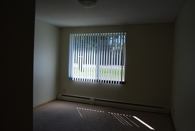 Large bedroom; apartment is on 1st floor, easy access to both outside entrances