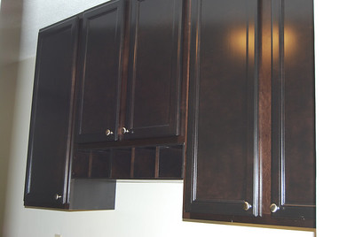 New walnut cabinets