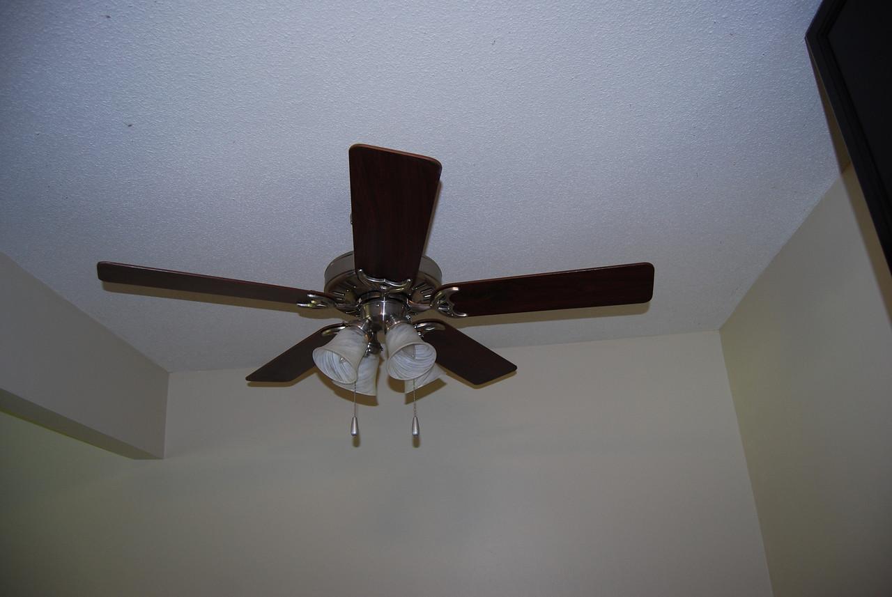 Ceiling fan in dining area