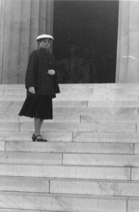 Lula E  Decker at Lincoln Memorial