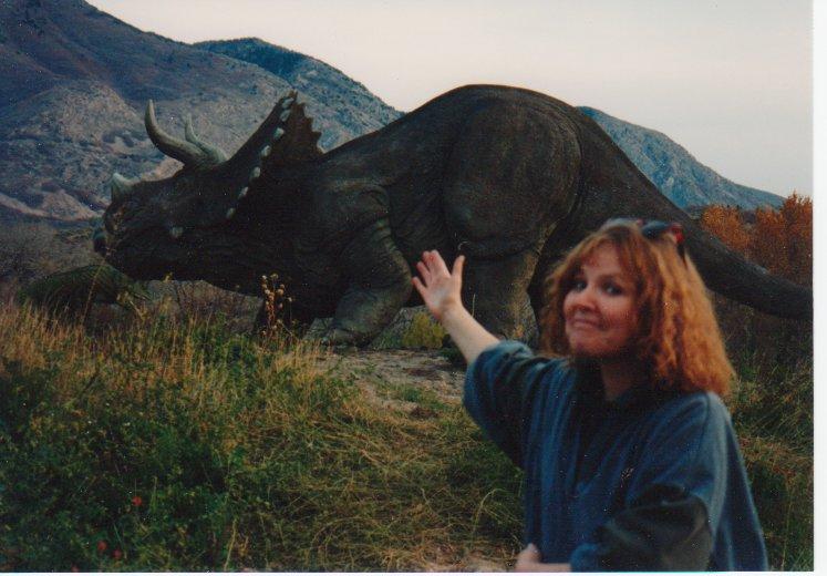 Michelle, Dinosauer Park, 11-1994,