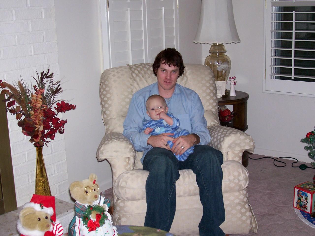 Brandon & Mikey, Christmas 2005