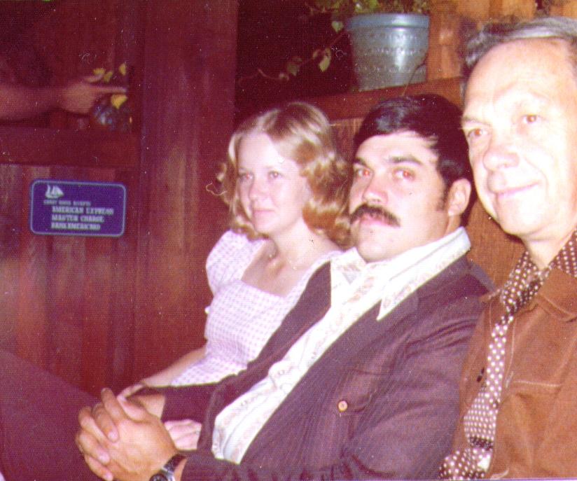 Mona,Mike,Wayne at Chart House,San Diego,9-20-75