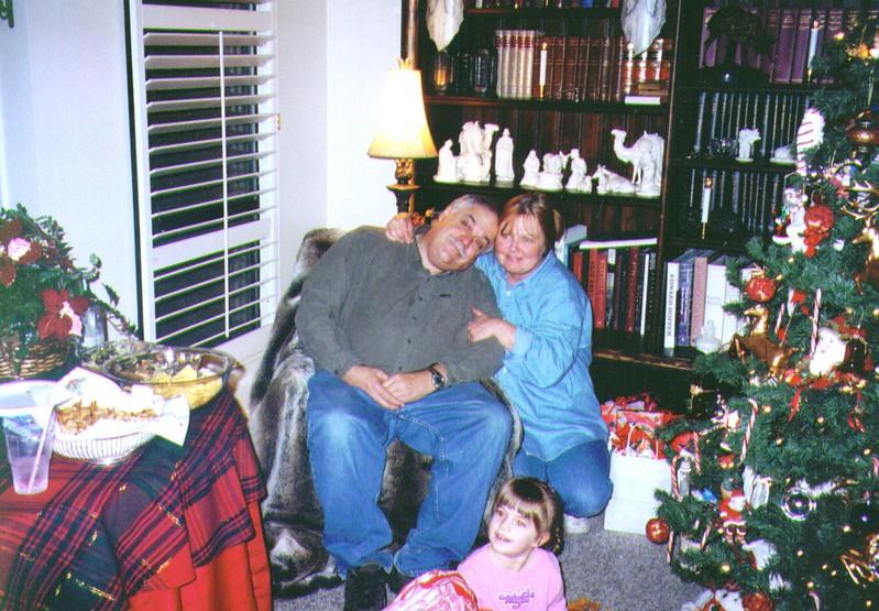 Mike,Michelle & little Michelle, 12-24-2003